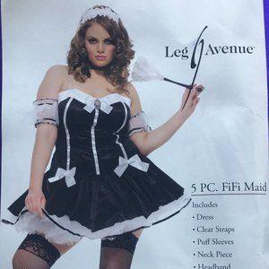 5 PC. FiFi Maid Halloween Costume